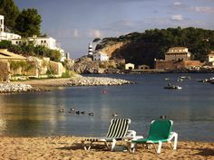 Soller beach - early morning - best time.