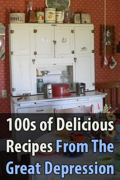 (ok abt recipies but LIKE the cupboard!) I came across a great collection of delicious recipes. More With Less Mom compiled a list of links to hundreds of Great Depression era recipes. Retro Recipes, Old Recipes, Vintage Recipes, Great Recipes, Delicious Recipes, Cooking Recipes, Yummy Food, Favorite Recipes, Recipies