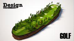 Mapas 3d. Campo de golf