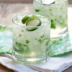 Cucumbers, mint, and gin - the english mojito