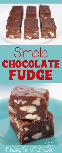 This simple fudge recipe can be done in 10 minutes and turns out perfect every time. No thermometer, no mixing bowl. Just cook it all in one pot about 5 minutes. Simple Chocolate Fudge!