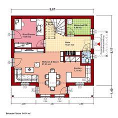 bien-zenker  Life 138 P im Überblick  Einfamilienhaus  Bebaute Fläche: 91,30 m2 *  Nettogrundfläche nach DIN 277:  ab 136,70 m2 *  4x Schlafzimmer, 1x Wohnzimmer, 1x Esszimmer, 1x Küche, 2x Diele, 1x WC, 2x Bad  Nettogrundfläche: 69,21m2