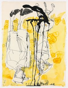 © Georg Baselitz, Seid bereit, immer bereit, 2010 Ink applied with feather, watercolour