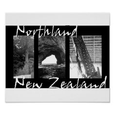 Northland New Zealand scenic poster