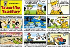 This week's Tuesday's Top Ten Comics pays tribute this Veteran's Day with these hero and veteran-themed comics. Beetle Bailey Comic, Mort Walker, Military Humor, Calvin And Hobbes, Veterans Day, Back In The Day, Top Ten, Comic Strips, The Funny
