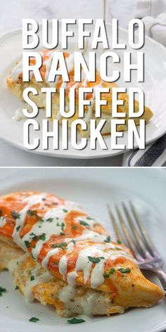 Chicken stuffed with cheese and ranch and coated in spicy wing sauce! It's low carb, keto friendly, and a favorite in my house! Chicken stuffed with cheese and ranch and coated in spicy wing sauce! It's low carb, keto friendly, and a favorite in my house! Healthy Dinner Recipes, Low Carb Recipes, Diet Recipes, Dessert Recipes, Simple Recipes, Health Food Recipes, Best Food Recipes, Keto Meals Easy, Easy Oven Recipes