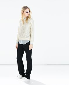 Image 1 of MIXED LACE TOP from Zara