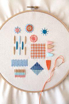 Needle weaving tutorial in Crafty magazine