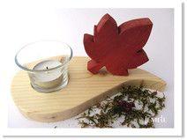 Teelichthalter Ahornblatt aus Holz