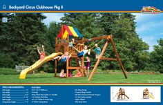 6A Backyard Circus Clubhouse Pkg II #swingsets #rainbowplay #rainbowplaysystem #rainbowplaysystems