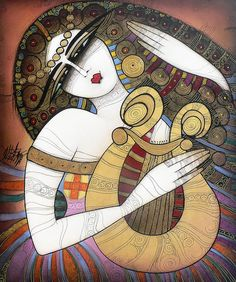 The Lyre Painting by Albena - The Lyre Fine Art Prints and Posters for Sale