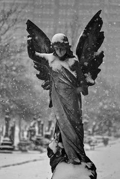 L'angelo della neve / Angel of snow (Margravine Cemetery, … | Flickr