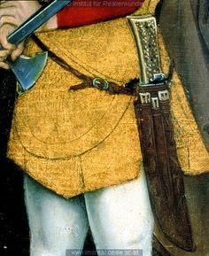 late 15th century Austrian scabbard, in the Kreuzigung Christi, Meister des Schottenaltars