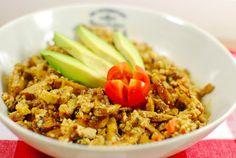 Tofu-Wheaty-Salat, vegan