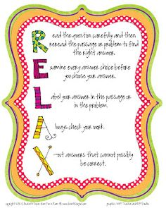 "Cute ""Relax"" poster for testing"