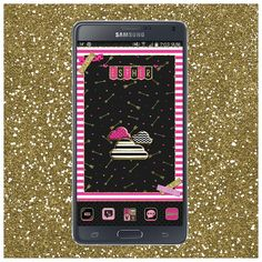 Goodmorning everyone! Wishing you all an amazing Mothersday weekend!! #CherryLips #golauncher #theme and #custom #wall by #Gabbell #iPhonemizee and #BlackWhiteGold #beweather by me #DroidliciousDiva