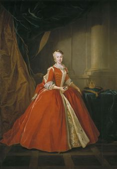 Louis de Silvestre - Portrait of the Princess Maria Amalia of Saxony in Polish Costume, Queen of Spain and Naples, Oil on canvas, Museo Nacional de Prado, Madrid European History, Art History, Naples, 18th Century Fashion, 19th Century, Historical Clothing, Female Clothing, Historical Dress, Royals