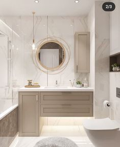 White and Grey Bathroom Design for Today🛀 Grey Bathrooms Designs, Bathroom Design Luxury, Home Interior Design, Taupe Bathroom, Modern Bathroom, Bathroom Inspiration, Home Decor Inspiration, Bathroom Styling, Amazing Bathrooms