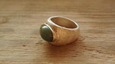 Silver Rings – Pierścionek z zielonym agatem – a unique product by Misarte on DaWanda