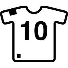 Soccer t shirt free vector icons designed by Freepik Final Copa America, Vector Icons, Vector Free, Number Icons, Soccer Party, Search Icon, All Icon, Football Birthday, Free Icon