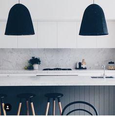 Minimalist monochrome kitchen