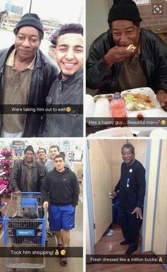 20 Faith in Humanity Restored Pictures Will Blow Your Mind - humorside Homeless people are living a rough life. Often living in a life of ignorance. Doing this kind action to homeless people will make a world worth living to them. Sweet Stories, Cute Stories, Beautiful Stories, Happy Guy, Human Kindness, Touching Stories, Good Deeds, Thing 1, Good People