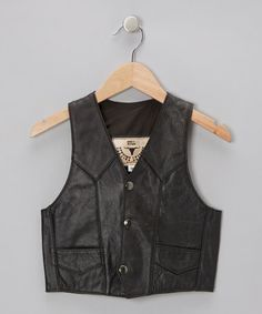 Take a look at this Black Vest - Toddler & Kids by BULL on #zulily today!