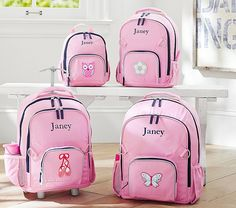 Fairfax Pink/Navy Backpacks | Pottery Barn Kids