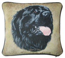 Newfoundland Tapestry Cushion Dog Cushions, Tapestry Design, Newfoundland, Dog Design, Dog Owners, Labrador Retriever, Great Gifts, Detail, Dogs