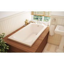 """View the Maax 103588-000-103 Pearl Classic CS 32 Soaking Tub 60"""" x 32"""" x 20"""" with Left-Hand Tiling Flange at FaucetDirect.com."""