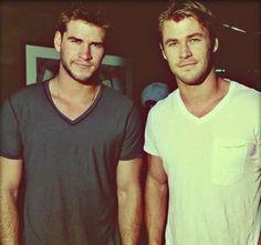 Hemsworth Boys. like....way to go parents...way to go. I applaud you.