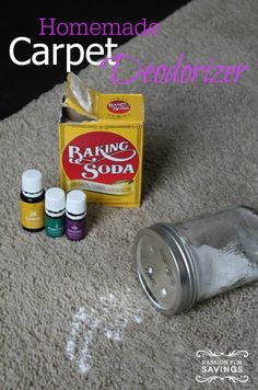 Homemade Carpet Deodorizer! Easy DIY Recipe to freshen your house!