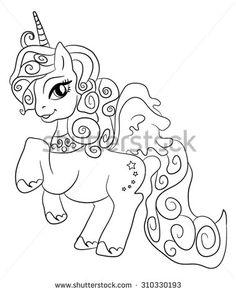 Cute Cartoon Fairytale Unicorn