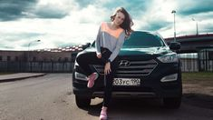 #adult #automobile #beautiful #beauty #bridge #brunette #car #drive #fashion #girl #model #outdoors #people #person #photoshoot #portrait #pose #road #shoes #sneakers #suv #travel #vehicle #woman