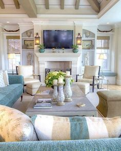 East Beach Idea House Tour | Beach living room, Living rooms and ...