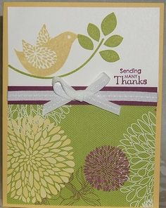 Stampin' Up! Betsy's Blossoms and Floral District Designer Series Paper Jeannine Tarrio Maine Demonstrator