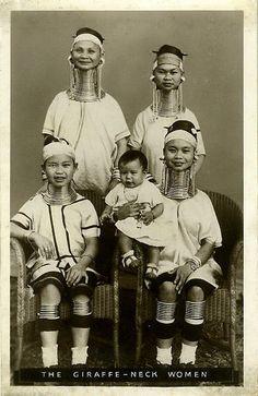 c.1930s:  Kayan Lahwi women, Burma
