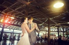Lenora's Legacy Estate Wedding Photo Gallery - wedding reception in a beautifully restored South Carolina peach shed.