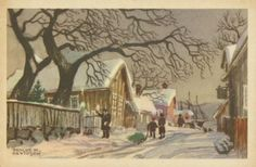 Trygve M. Davidsen - Google Search Norway, Snow, Illustration, Christmas Postcards, Painting, Outdoor, Art, Google Search, Outdoors