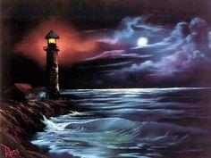 Fondo de Pantalla de Artístico: Bob Ross - Night Light