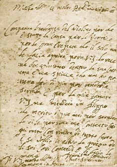 A letter from Stradivari in which he apologizes to a customer for being late in delivering a violin he was asked to repair. (Dated 12 August 1708)