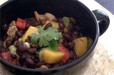 black bean chicken and mango stew