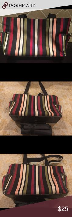Kate Spade diaper bag with changing pad. Wear to outer corners as shown. Changing pad and inside are pretty clean. See pictures for details. Smoke free home. kate spade Bags Baby Bags
