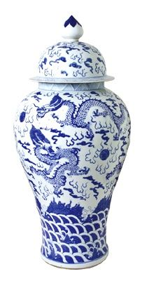 Love the Dragons on this Ginger Jar.