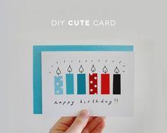New birthday candles diy mom Ideas - Diy Birthday Cards Birthday Greetings For Kids, Unique Birthday Cards, Birthday Cards For Mom, Birthday Gifts For Kids, Birthday Messages, Birthday Crafts, Handmade Birthday Cards, Free Birthday, Birthday Ideas