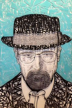 Heisenberg Chronicles • Walt & Jesse paintings on glass by Chris Malfi in...