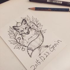 "261 curtidas, 5 comentários - Tattooist Grain (@tattoo_grain) no Instagram: ""#fox#foxdrawing#inprogress#roughsketch#여우#여우그림 좀더 다듬어서 작업할예정입니다"""