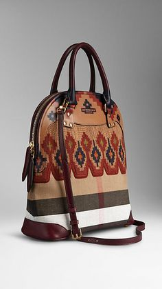 5deb6d80ac14 The Medium Bloomsbury in Hand-Painted Canvas Check   Burberry Carpet Bag,  Hand Painted