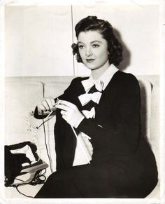 Myrna Loy looking poised and elegant with her knitting.  One of my favorite actresses :)