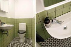 av Utzon i Planetstaden Retro Bathrooms, Upstairs Bathrooms, Bathroom Inspo, Bathroom Inspiration, Jorn Utzon, Cozy House, Lund Sweden, Beautiful Homes, Mid-century Modern